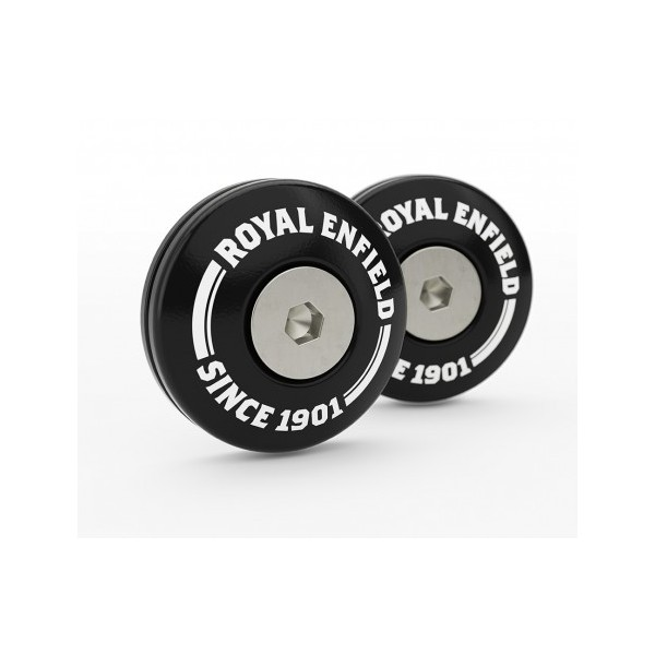 Royal Enfield Twins Bar End Finisher Kit Black
