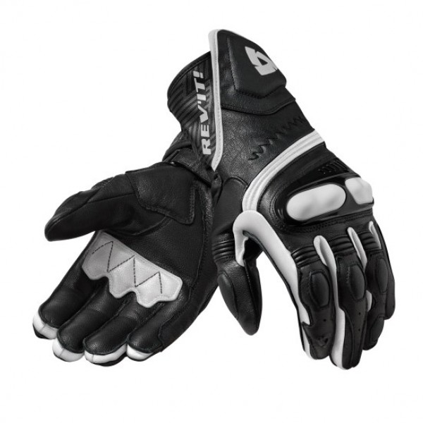 Revit Metis Leather Gloves Black / White