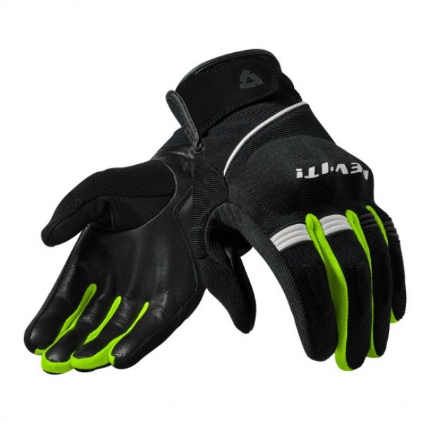Revit Mosca gloves Black/Neon-Yellow