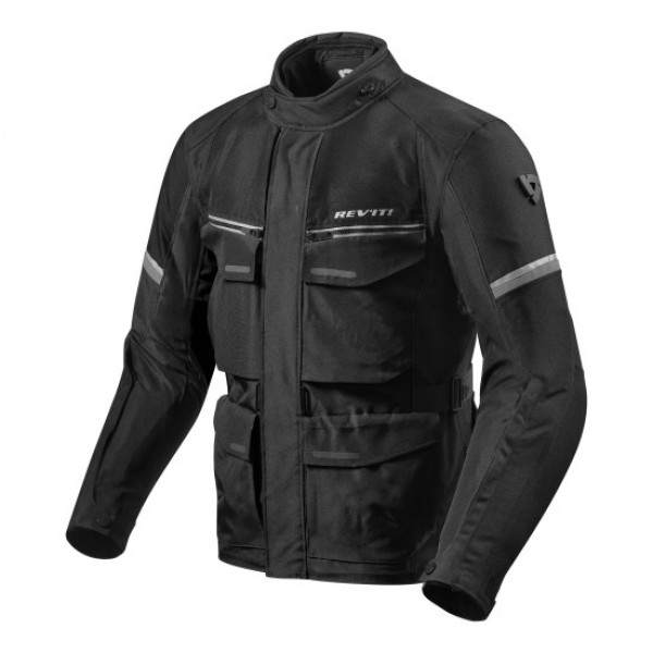 Revit Outback 3 Motorcycle Textile Jacket Black - Silver