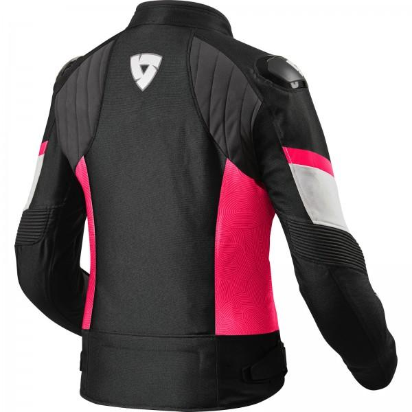 RevIt Arc H2O Ladies Motorcycle Jacket Black - Pink