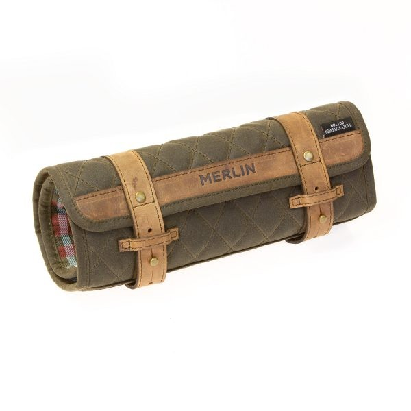 MERLIN CHAPLOW TOOL ROLL OLIVE