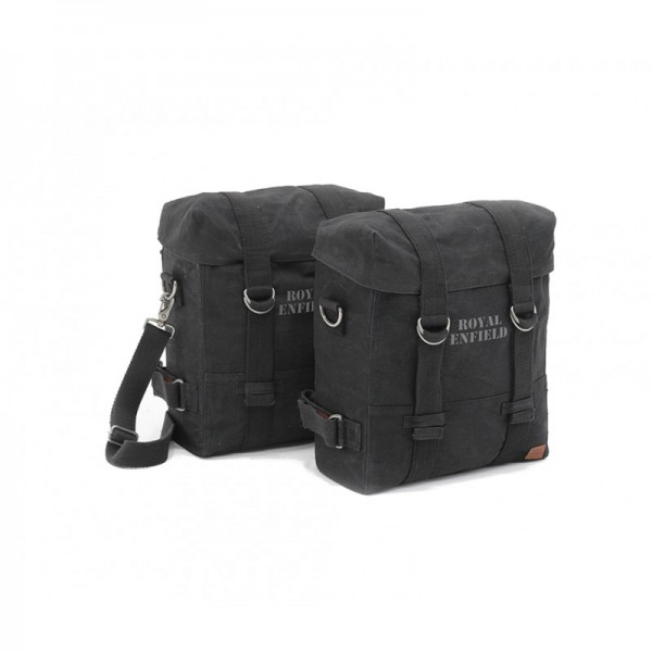 Royal Enfield Military Panniers Classic Black