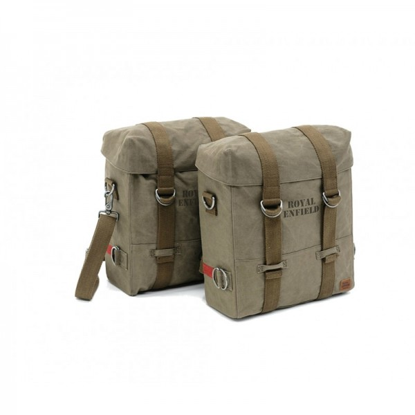 Royal Enfield Military Panniers Classic Olive