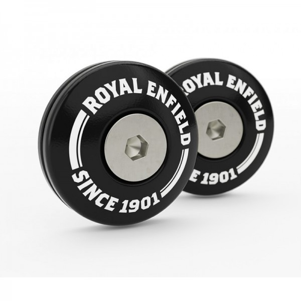 Royal Enfield Twins Bar End Finisher Kit Black.