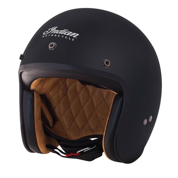Indian Retro Open Face Helmet Matt Black