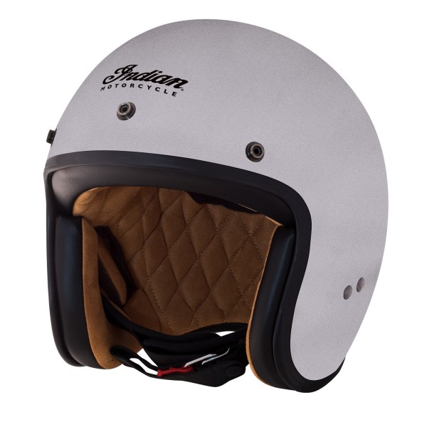 Indian Retro Open Face Helmet Silver