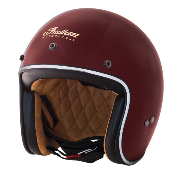 Indian Retro Open Face Helmet Red
