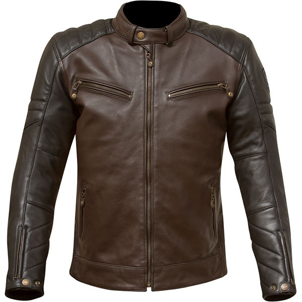Merlin Chase Leather Jacket - Brown / Black