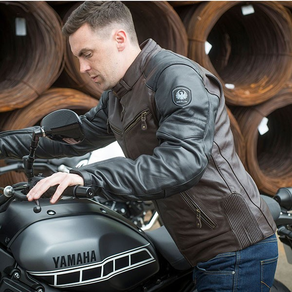 Merlin Chase Leather Jacket - Brown / Black