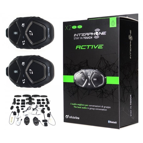 SUMMER SALE : INTERPHONE BLUETOOTH HEADSET ACTIVE TP TWINPACK