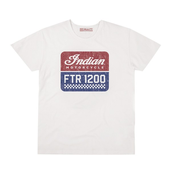 Indian Men's FTR1200 Logo T-Shirt, White