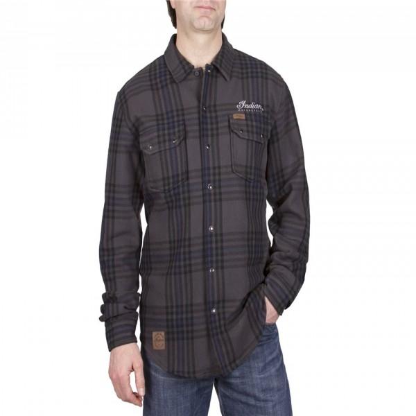 Indian Plaid Shirt Grey