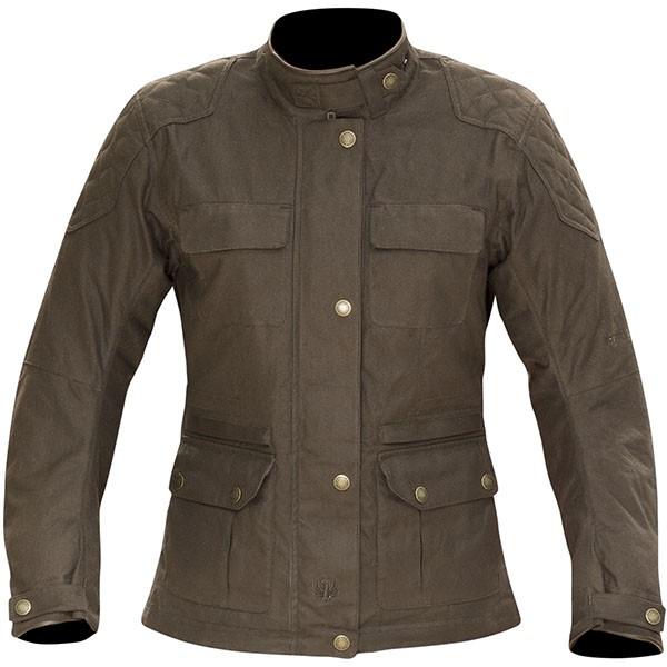 Merlin Ladies Buxton Wax Textile Jacket - Brown