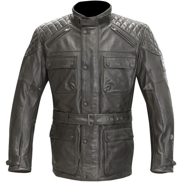 Merlin Hatton Waterproof Leather Jacket - Black