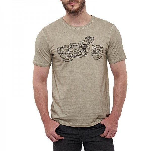 Royal Enfield Non Stop Classic T-Shirt Beige