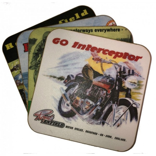 Royal Enfield Vintage Coaster Set (4 Piece)
