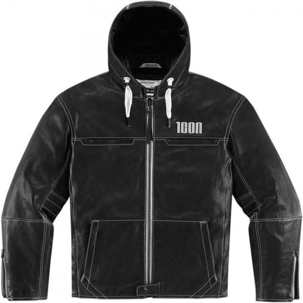 Icon 1000 Hood Leather Jacket
