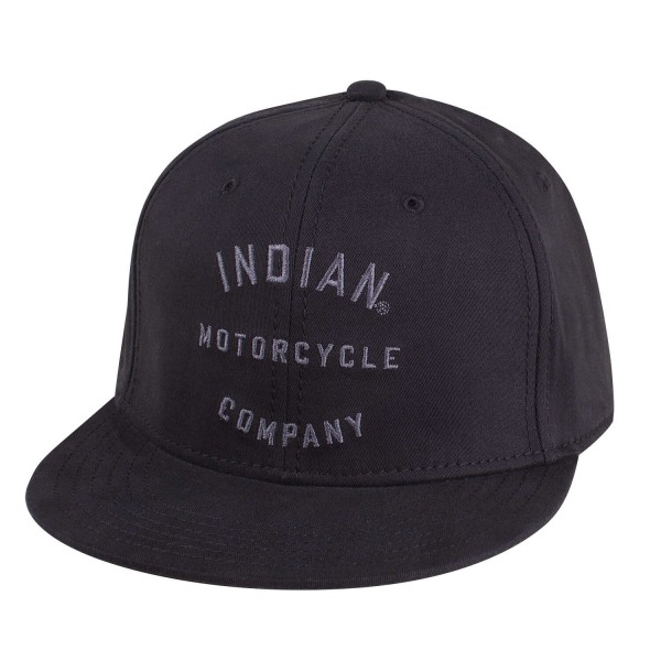 Indian Flexfit Flatbill IMC Hat, Black