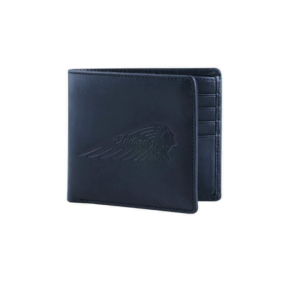 Indian Leather Bi-fold Wallet Black