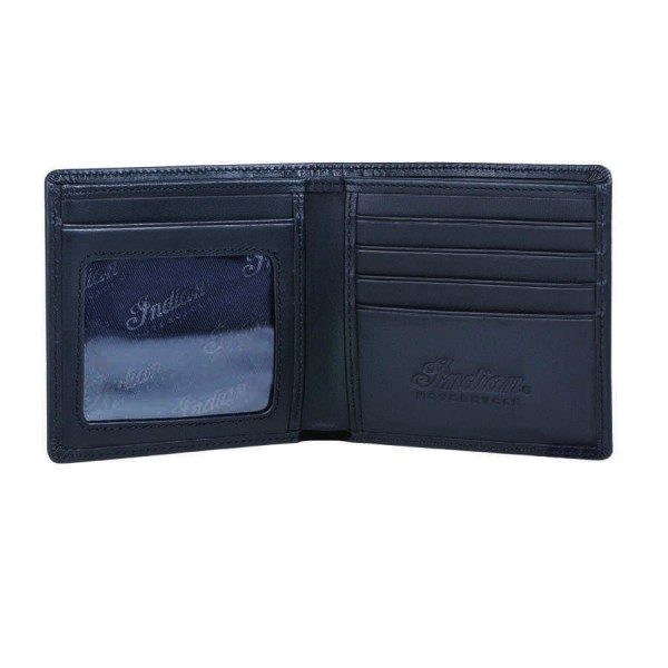 Indian Leather Bi-fold Wallet Black