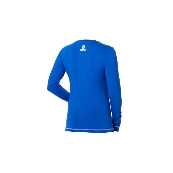 Yamaha Paddock Blue Women's Long Sleeve T-Shirt Blue