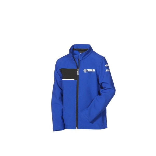 Yamaha Paddock Blue Kids Softshell Jacket