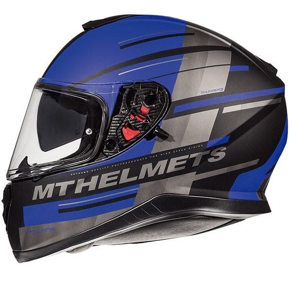 MT Thunder 3 SV Pitlane - Matt Black / Blue