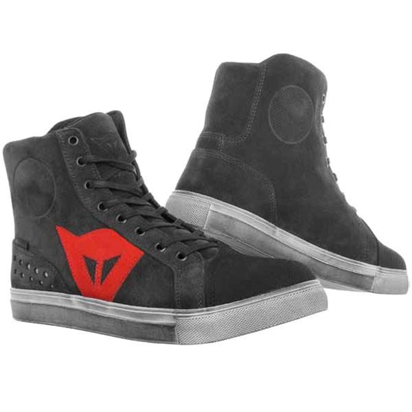 Dainese Street Biker D-WP Boots - Carbon Dark / Red