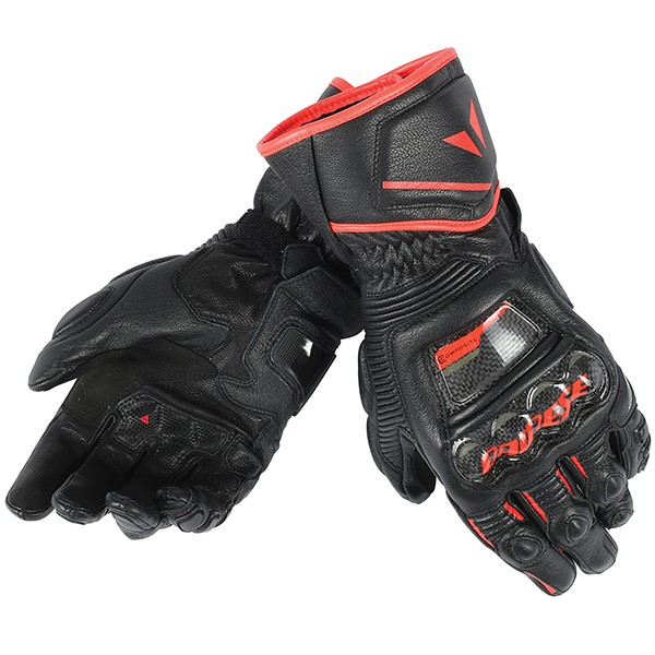Dainese Druid D1 Gloves - Black / Black / Fluo Red