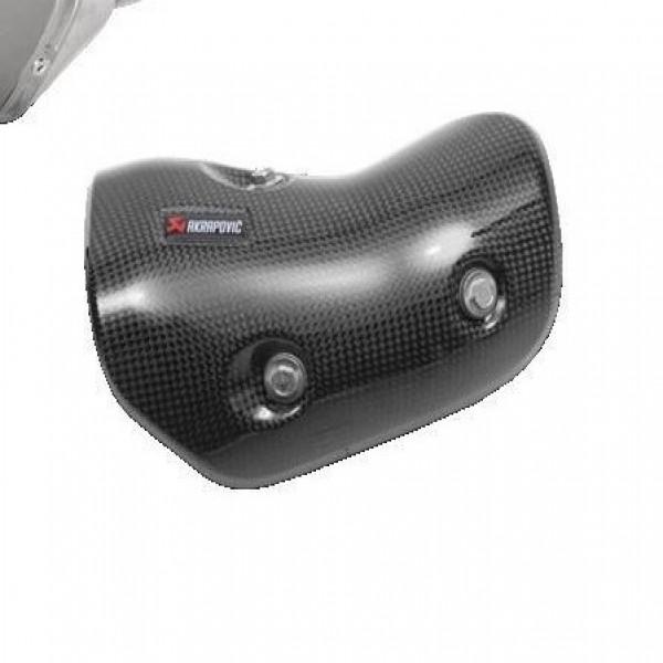 Kawasaki Z250 Akrapovic Slip-On Exhaust Carbon Heat shield