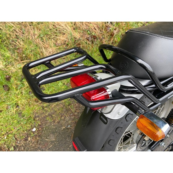 650 Twins Black Rear Rack