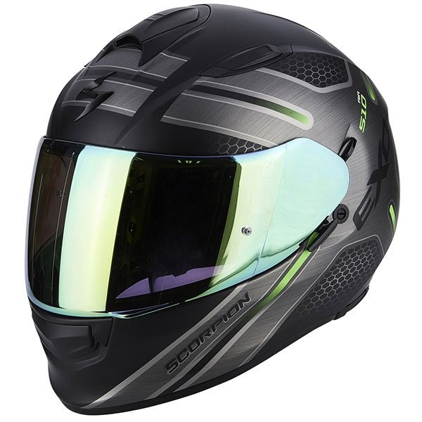 SCORPION EXO 510 ROUTE BLACK GREEN