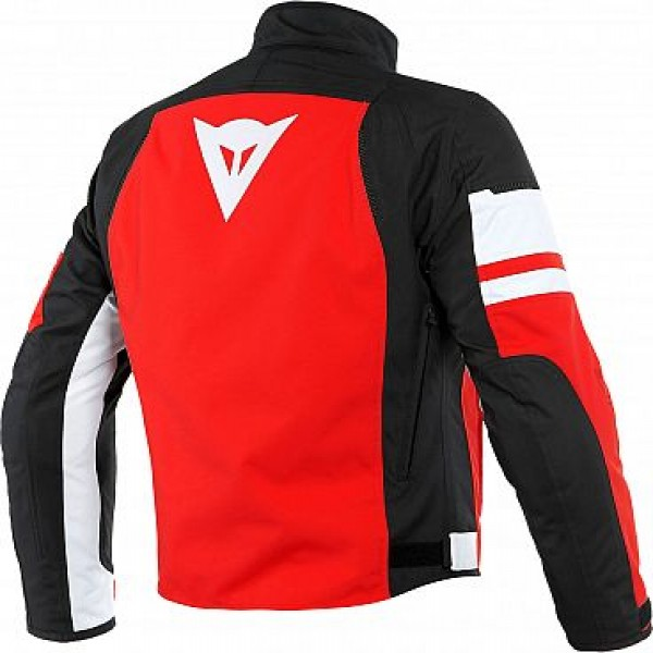 Dainese Saetta D-Dry Textile Jacket - Black /White / Red