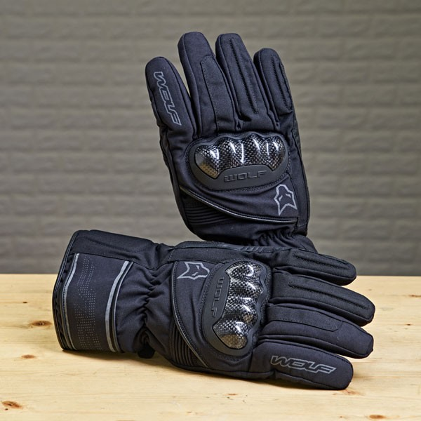 Wolf Fortitude CE Waterproof Textile Gloves - Black