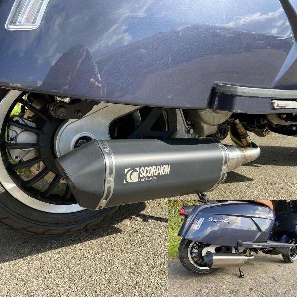 Royal Alloy GP300 LC Scorpion Exhaust Ceramic Black