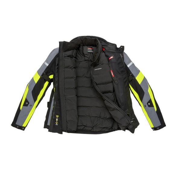 Spidi GB H2out Globetracker Jacket Black Fluo Yellow