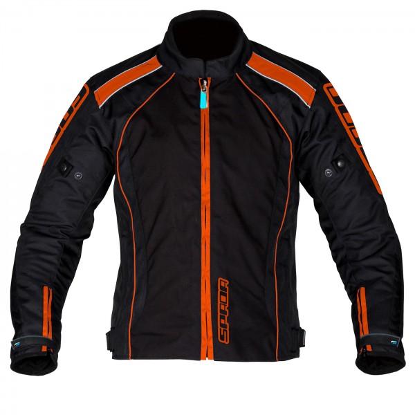 Spada Textile Jacket Plaza CE WP Black/KTM Orange