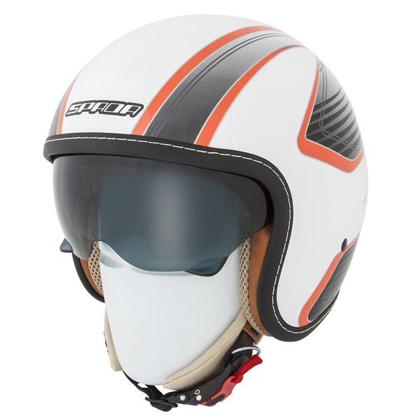 Spada Helmet Raze Vecta White/Orange