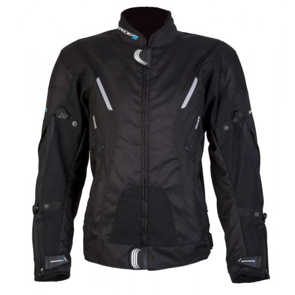 Spada Curve Waterproof Textile Jacket - Black