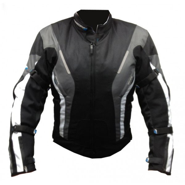 Spada Curve Waterproof Textile Jacket - Blk/Grey/White