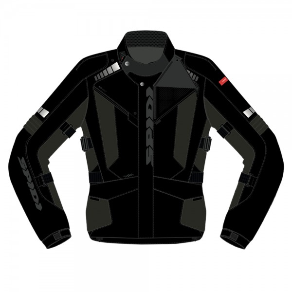Spidi GB Outlander CE Jacket Black/Green