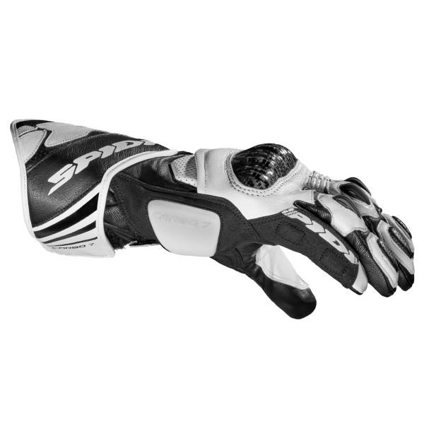 Spidi GB Carbo 7 CE Gloves Wht Blk