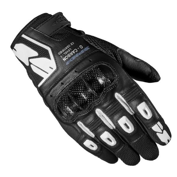 Spidi GB G-Carbon CE Gloves Blk Wht