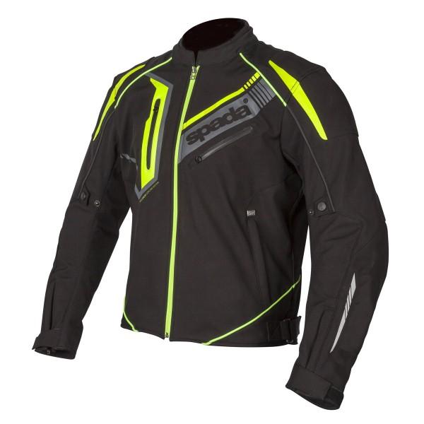 Spada Boulevard CE Textile Jacket - Black/Fluo