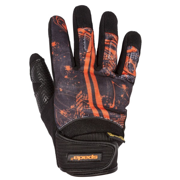 Spada Splash Leather Gloves - Black/Orange