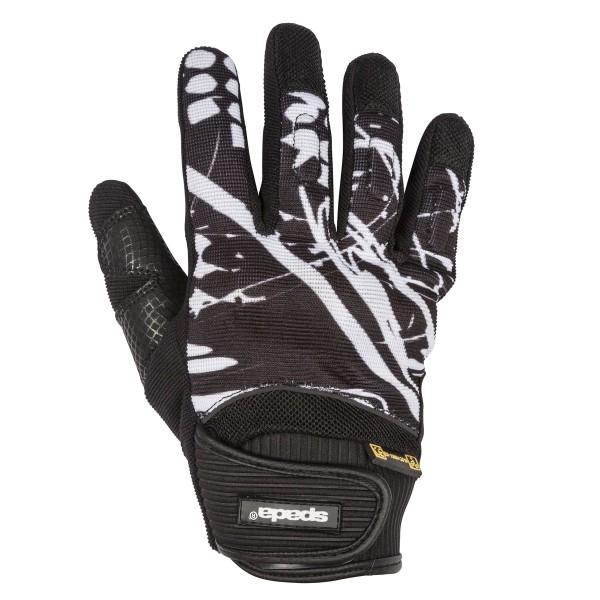 Spada Splash Leather Gloves - Black/White