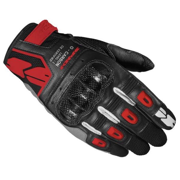 Spidi GB G-Carbon CE Gloves Blk Red