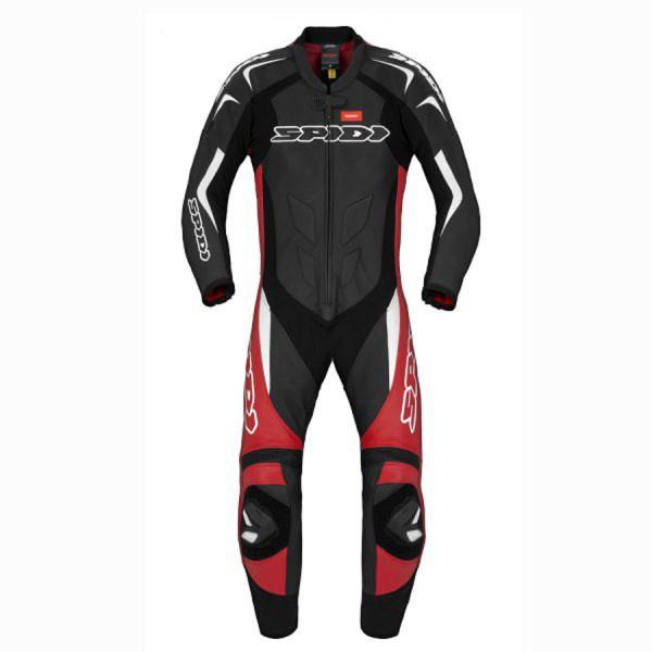 Spidi GB Super Sport Wind CE Suit Blk Red Wht