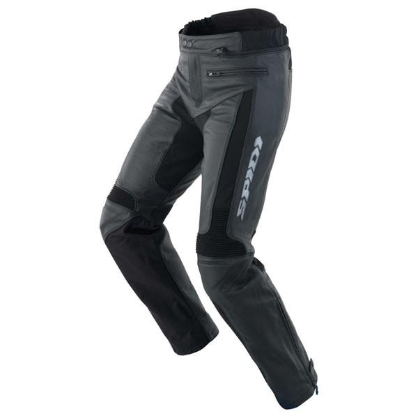 Spidi Teker Short Leg Leather Trousers Black